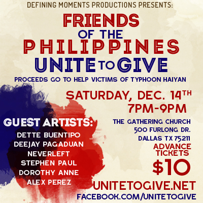 Victims of Typhoon Haiyan Benefit Concert Poster
